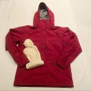 MEC dark pink winter jacket.